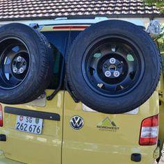 Reserveradhalter zu VW BUS T5 mit Flügeltüren