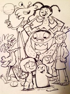 Inktober Foster's Home For Imaginary Friends.