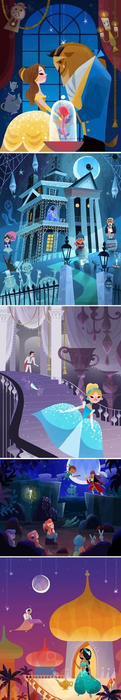 Its Disney, a bit old school, Mary Blair Style
