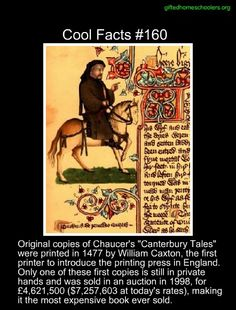 Original copy of Canterbury Tales Wow Facts, Wtf Fun Facts, Crazy Facts, Random Facts, Random Stuff, Cool Stuff, The More You Know, Good To Know, Did You Know