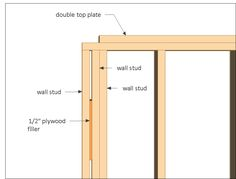 12x16 shed plans - front back wall frame close up