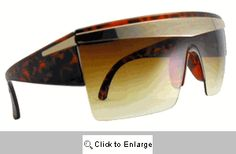 Gaga Shields Sunglasses - 264 Brown Tones Retro Fashion, Vintage Fashion, Gold Sunglasses, Retro Style, Brown, Fashion Design, Wave, Shades, Inspired
