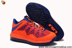 New Nike Air Max Lebron 10 Low Black Orange Blue Sports Shoes Store