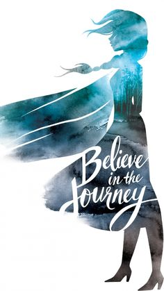 Elsa; Believe in the Journey Phone Wallpaper