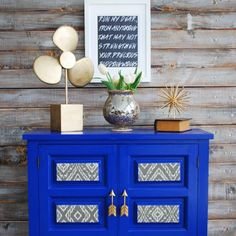 Add a pop of color to your home by painting an old piece of furniture!
