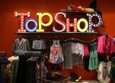 topshop instore display