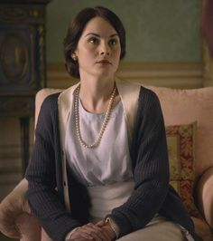 Michelle Dockery as Lady Mary Crawley in Downton Abbey (2010).  Oh she is so stunning. I love her expression here. Classic Mary - frustration, boredom, and longing.