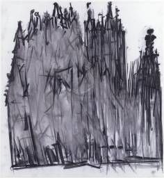 Dennis Creffield (born Canterbury Cathedral 1987 Charcoal on paper 1016 x 925 mm Line Drawing, Painting & Drawing, Cathedral Architecture, Canterbury Cathedral, Building Drawing, Architecture Drawings, Line Art, Art Drawings, David Bomberg