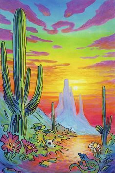 Hippie Wallpaper, Trippy Wallpaper, Black Poster, Hippie Vintage, Trippy Painting, Mexico Art, Bright Art, Canvas Art, Canvas Prints