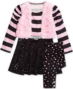 Nannette Little Girls' 2-Piece Vest Tunic & Leggings Set
