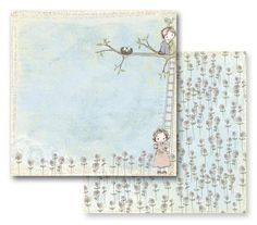 Prima - Jack and Jill Collection - 12 x 12 Double Sided Paper - Daydreamer at Scrapbook.com $0.89