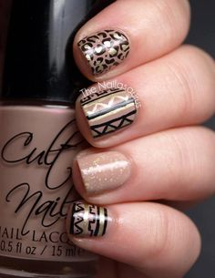 Tribal nail/I don't think I'd use all pattern at one time.