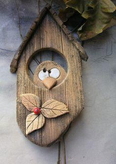 Wooden Garden, Wooden Diy, Scrap Wood Projects, Craft Projects, Diy Crafts Hacks, Diy And Crafts, Clay Crafts, Wood Crafts, Clay Wall Art