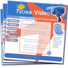 "Tom Butler - Made as a product icon for a web design company, ""small business web sites"". created a whole series of graphics for the site based on the fictional ""Nova Video"" Everything is vector including the camera and disks."