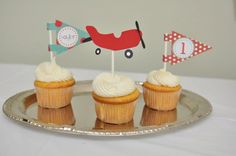 Airplane Birthday Party, Airplane Party Package, Vintage Airplane Birthday party, Party decorations, Airplane birthday. $95.00, via Etsy.