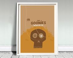 Exclusive 12x16 inch movie poster inspired by The Goonies Crafted by David OMara from Archive  Artwork is professionally printed on 160gsm