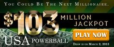 USA Powerball Rollover: US$ 103 Million Jackpot on March 2