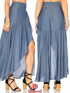 35 Long Skirts To Wear Now low skirt skirt - craftIdea. Dress Making Patterns, Skirt Patterns Sewing, Boho Fashion, Fashion Dresses, Womens Fashion, Skirt Outfits, Dress Skirt, Simple Dresses, Summer Dresses