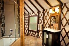 beautiful yurt bathroom