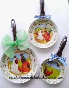 Ideas que mejoran tu vida Tole Painting, Painting On Wood, Home Crafts, Diy And Crafts, Creation Art, Chicken Art, Decoupage Art, Chickens And Roosters, Metal Crafts