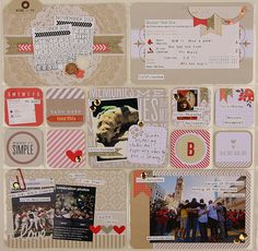 Project Life: Week 44-2013. Just Add Color Kit - Neutrals with pops of color and gold!