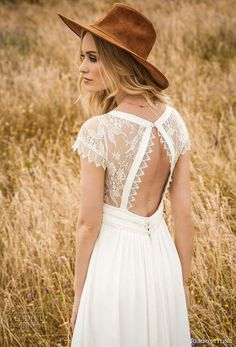 awesome 56 Adorable Bohemian Wedding Dress Ideas To Makes You Look Stunning  http://lovellywedding.com/2018/03/22/56-adorable-bohemian-wedding-dress-ideas-makes-look-stunning/ #weddingdress