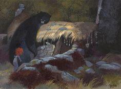 Concept Art, Merida and Mum Bear, Brave, 2012