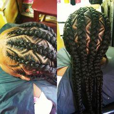 6 cornrows #protectivestyles #cornrows #cornrowstyles #hairstylesforblackhair #hairstylesforblackwomen