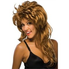 Sexy Tina Turner 80s Rock Singer Halloween Costume Wig - product - Product Review
