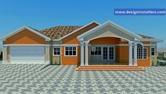DESIGNED HOME PLANS Entrance Design, Bungalows, House Plans, Garage Doors, Houses, House Design, How To Plan, Gallery, Outdoor Decor