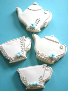 Check Out These Tea Party Cookies by Kathia Castro Of Pink Little Cake.