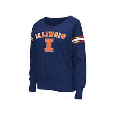 Women's Campus Heritage Illinois Fighting Illini Wiggin' Fleece Sweatshirt, Size: Medium, Dark Blue