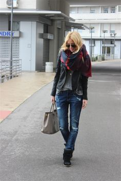 2013 Zara jeans/Zara shirt /Zara jacket/H&M necklace/Prada bag/Isabel Marant sneakers