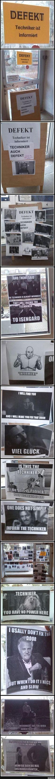 Defekt. Der Techniker ist informiert.. | Lustige Bilder, Sprüche, Witze, echt lustig