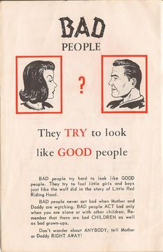 How to Tell Good People from Bad People