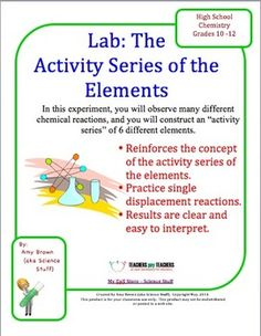 By observing reactions between single elements and compounds, scientists have been able to determine a list of elements in order of their activity. In this experiment, you will observe many different chemical reactions, and you will construct your own list of elements in order of their activity.