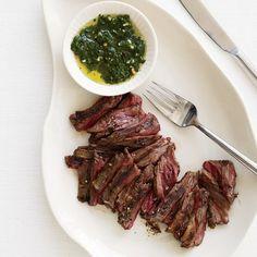Mark Bittman's Grilled Skirt Steak with Chimichurri Sauce