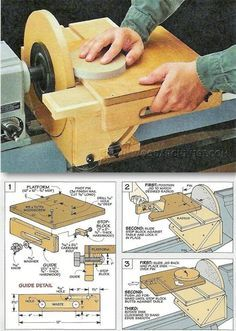 Circle Sanding Jig - Sanding Tips, Jigs and Techniques | WoodArchivist.com
