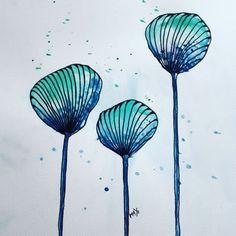 @mayoasha  #mayoasha #micron #pentekening #pen #watercolor #aquarel #mandala #zentangle #doodle #zendoodle #bloem #bloom #flower
