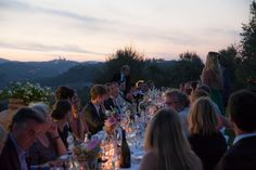 Wedding reception surrounded by the Tuscan hills