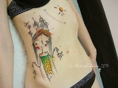 #tattoofriday - Aleksey Platunov, tattoos em aquarela, sketches e elementos geométricos;
