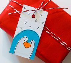 Gift Tags   Pack of 6 Handmade Gift tags by SamfireGreetingCards