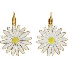 Kate Spade New York Daisy Chain Daisy White Earrings