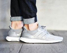 Available in full size run. Adidas Ultra Boost Grey / White http://ift.tt/1XZUxnW