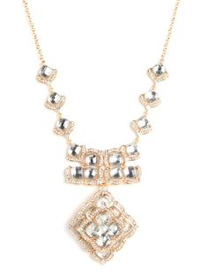 Gold Rose Bib - Necklaces - Categories - Shop Jewelry | BaubleBar