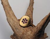 gold ring. woman delicate gold ring with rubies. love gift for her
