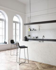 Neolith Blanco Carrara complements this beautiful room perfectly  #cdkstone #neolith #neolithblancocarrara #blancocarrara #sinteredcompactsurface #sinteredstone #extraordinarysurface #scratchresistant #stainresistant #heatresistant #coldresistant #resistanttouvfading #designinspiration #kitcheninspiration