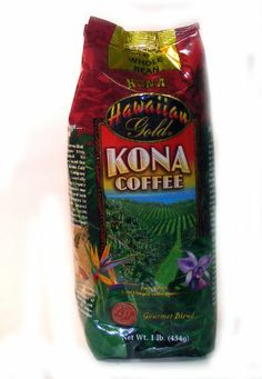 Hawaiian Gold Whole Bean Kona Coffee 1lb. - http://thecoffeepod.biz/hawaiian-gold-whole-bean-kona-coffee-1lb/