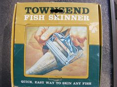 Vintage Townsend Fish Skinner Fishing Equipment Processing Cooking Original Box