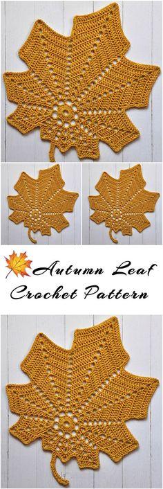 Autumn Leaf Free Crochet Pattern – Yarn & Hooks